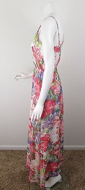 Multi-Color Maxi Dress by Jack by BB Dakota Urban Outfitters Pink Floral Chiffon Maxi 6 Image 1