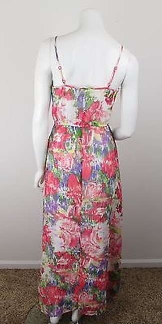 Multi-Color Maxi Dress by Jack by BB Dakota Urban Outfitters Pink Floral Chiffon Maxi 6 Image 2