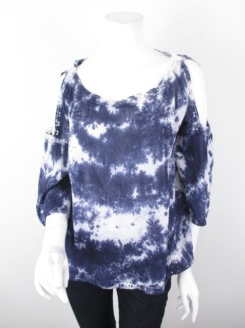 Preload https://img-static.tradesy.com/item/5816983/hazel-anthropologie-blue-white-tie-dye-cotton-cut-out-top-shirt-0-0-650-650.jpg
