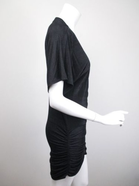 MINKPINK Urban Outfitters Shimmer Zipper Front Ruched Mini Dress Image 1