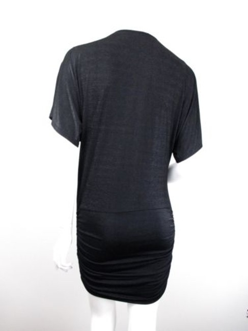MINKPINK Urban Outfitters Shimmer Zipper Front Ruched Mini Dress Image 2