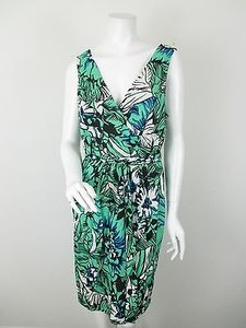 Plenty by Tracy Reese Diana Print Faux Wrap Tropic Flower Szs 4 6 Dress