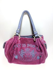 Juicy Couture Velour Juicy Is For Life Handbag Shoulder Bag