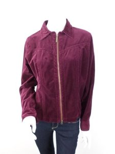 CAbi Velvet Double Zipper Cotton Lightweight Style 379 Burgundy Jacket