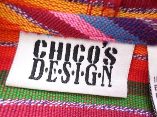 Chico's Lgbt Pride Striped Cotton Knit Full Jacket Sweater Image 5