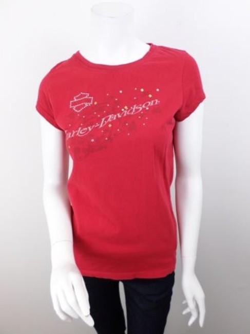 Preload https://item3.tradesy.com/images/harley-davidson-red-studded-rhinestone-palatine-il-t-shirt-tee-top-5817487-0-0.jpg?width=400&height=650