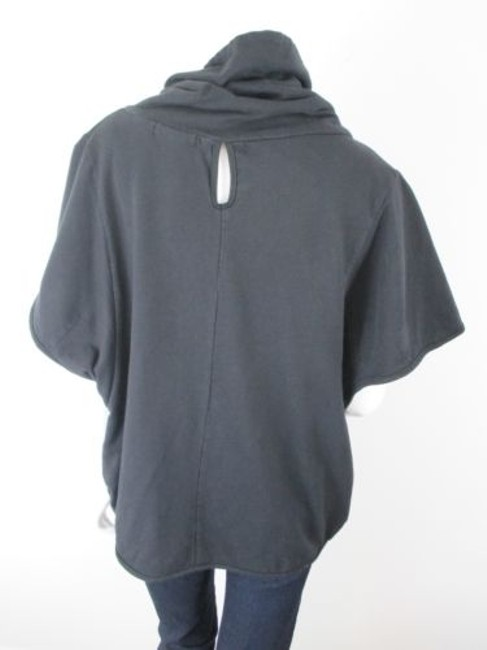 Mystree Buckle Poncho High Neck Cotton Lined Jacket Sweater