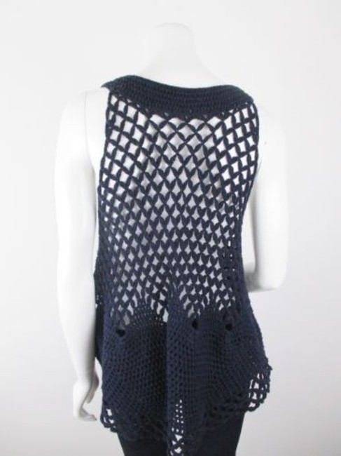 Free People Crochet Open Knit Button Cardigan Vest Sweater
