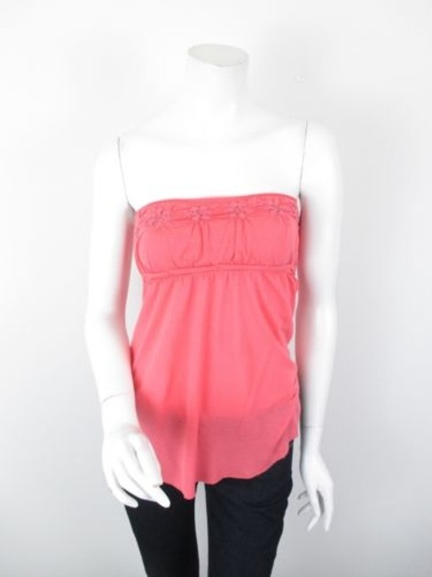 Preload https://img-static.tradesy.com/item/5817655/people-pink-strapless-floral-viscose-stretch-tube-top-shirt-0-0-650-650.jpg