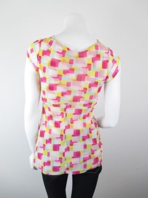 Sweet Pea by Stacy Frati Anthropologie Square Geometric Top Pink