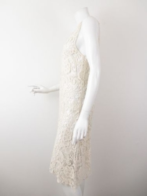 Charlotte Tarantola short dress Cream Anthropologie Lace Sheer Asymmetrical on Tradesy