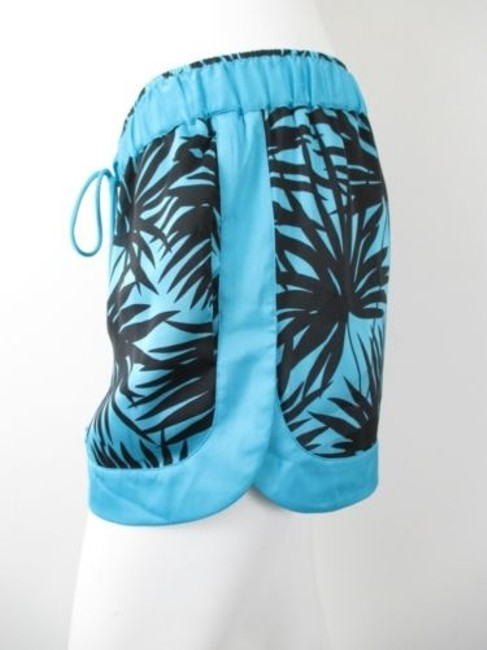 Michael Kors Peacock Tropical Hawaiian Shorts Blue, Black Image 1