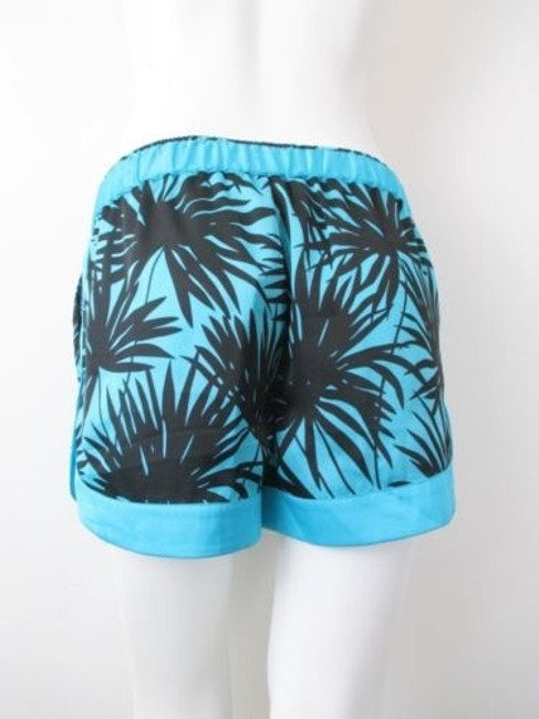Michael Kors Peacock Tropical Hawaiian Shorts Blue, Black Image 2