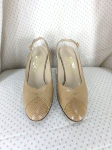 Salvatore Ferragamo Custom Beige Pumps