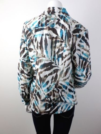 2d7f35603434ee lovely Tommy Bahama White Brown Blue Leaf Hawaiian Print Ls Silk Blend Shirt