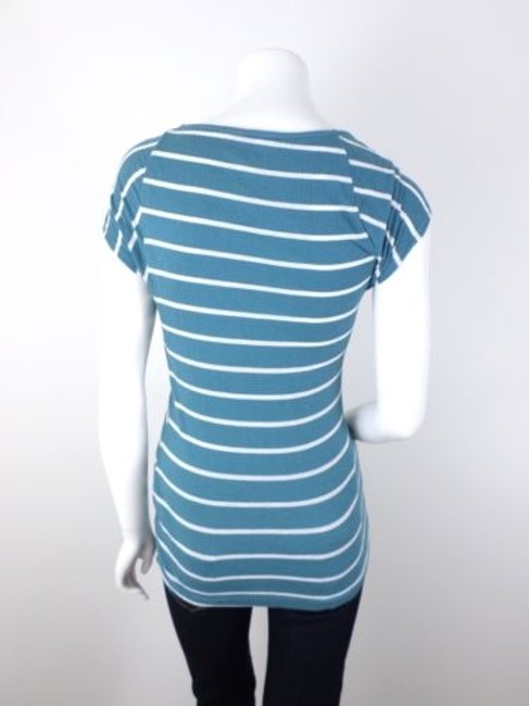 Other Postmark Anthropologie Striped Pieced Shirt Top Blue, White