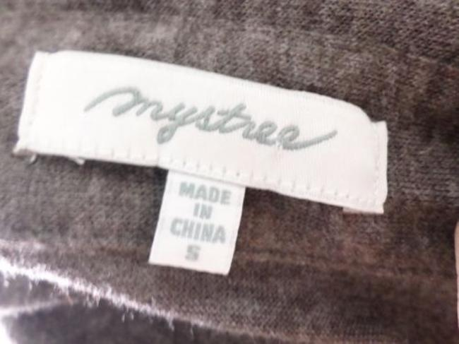 Mystree Collared Long Sleeve Embroidered Detail Shirt Top Brown