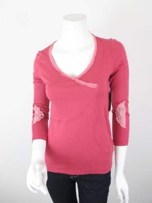 Preload https://img-static.tradesy.com/item/5818138/cc-outlaw-anthropologie-pink-v-neck-patch-shirt-top-blouse-0-0-650-650.jpg