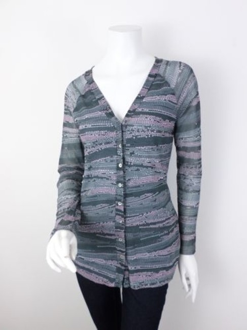 Sweet Pea by Stacy Frati Anthropologie Button Front Nylon Mesh Cardigan Sweater