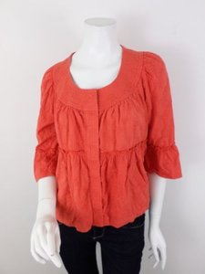 Ett Twa Anthropologie Orange Jacket