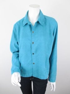 Chico's Chicos Design Aqua Blue Jacket