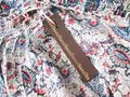 Hazel Anthropologie Paisley Print Boho Peasant S M Top Blue Image 4