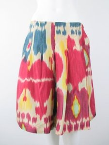 Lauren Ralph Lauren Southwestern Indian Native Tribal 100 Silk 8p Skirt Multi-Color