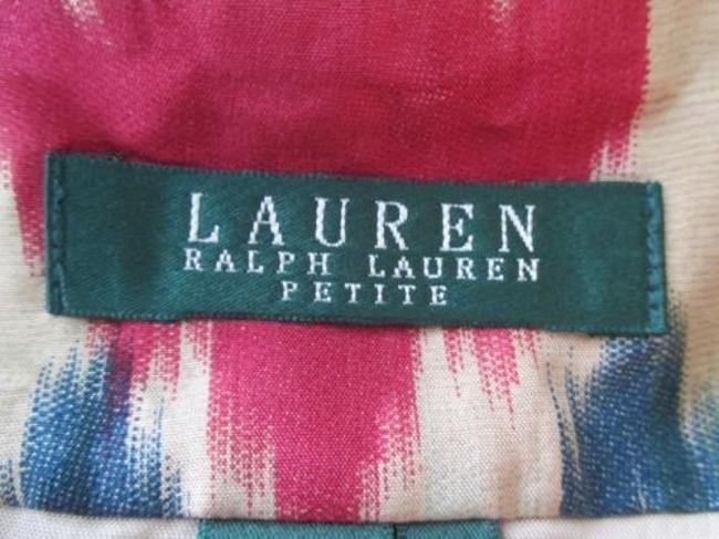 Lauren Ralph Lauren Southwestern Indian Native Tribal 100 Silk 8p Skirt Multi-Color Image 6