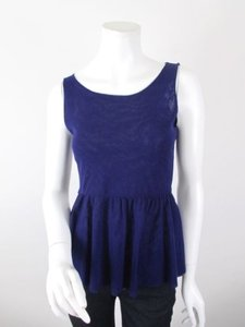 Sweet Pea by Stacy Frati Anthropologie Top Blue