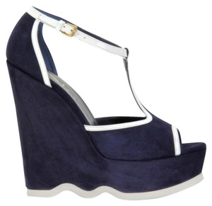Saint Laurent Dark blue Platforms