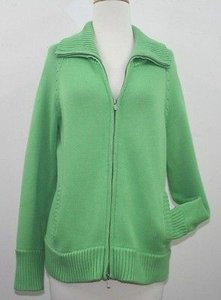 Jones New York Grass Green Cotton Sweater