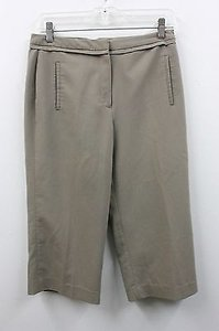Larry Levine 29w X19l Dark Capri/Cropped Pants Beige