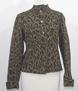 Anthracite Anthracite Brown Bronze Animal Print Jacket B84