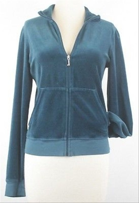Juicy Couture Juniors Velour Zip Front Cardigan B144 Sweater