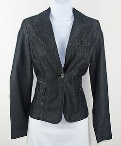 Apostrophe Apostrophe Blue Premium Denim One Button Blazer B191