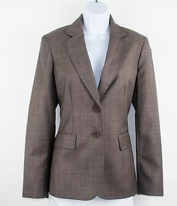 Anne Klein Anne Klein Taupe Gray Two Button Blazer B194