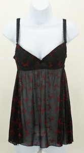 Hot Topic Hot Topic Black Red Bows Babydoll Nighty B357