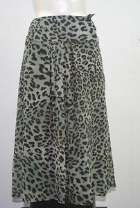 AGB Green Brown Leopard Print B37 Skirt