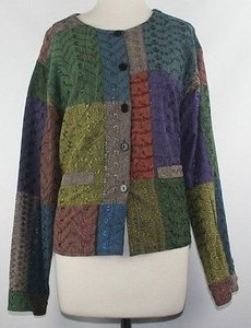 Sacred Threads Threads Ml 100 Cotton Brown Green Red Multi Blazer B22 Multi-Color Jacket