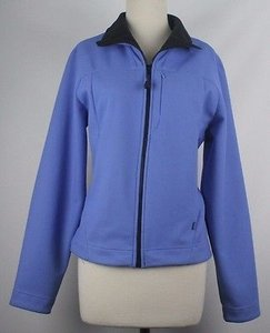 Other Tsunami Black Zip Front B149 Periwinkle Jacket