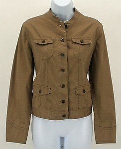 Charter Club Ps Four Tan Womens Jean Jacket