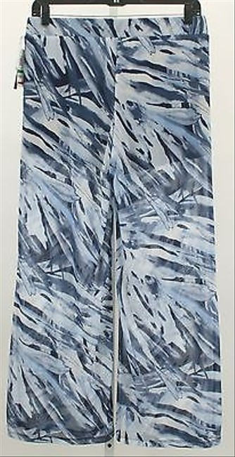 INC International Concepts Boho Navy Blue Gray X Sheer Pant B356 Shorts Multi-Color
