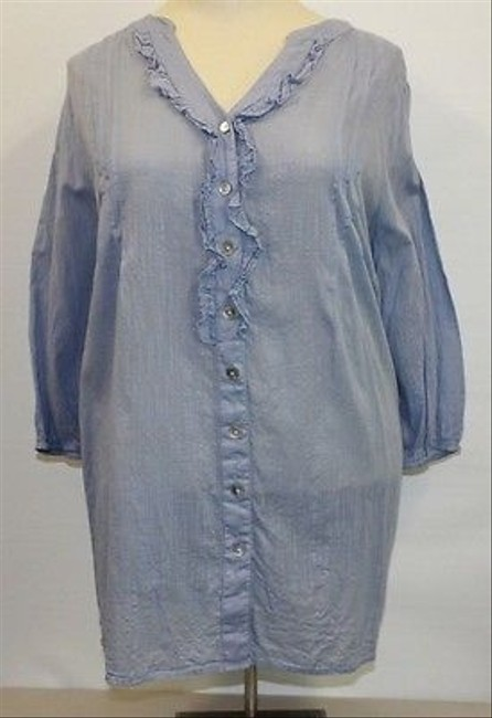 Other The Magnolia Light Ruffle B104 Top Blue