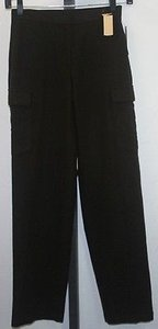 DKNY Wool Blend Trouser B140 Cargo Pants Brown