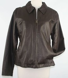 Marcello Figlia Leather Brown Jacket