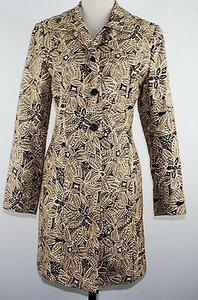Donna Rae Brown Cream Print Dress B171 Coat