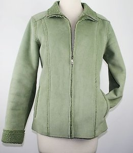 Izod Moss Faux Suede Green Jacket
