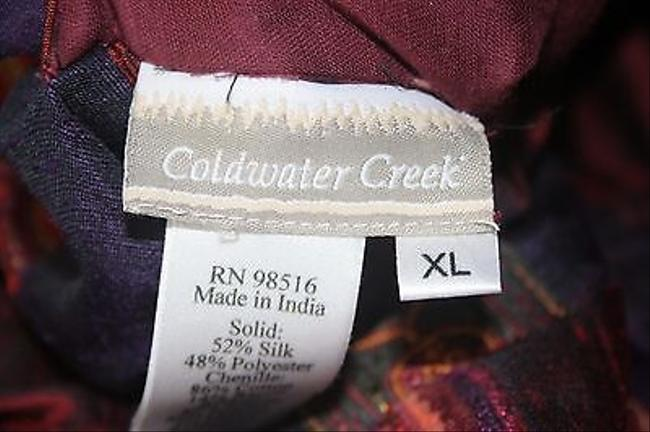Coldwater Creek Xlp Reversible B149 Burgundy Multi Jacket