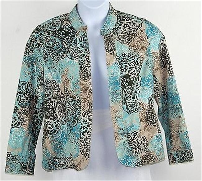 Preload https://item1.tradesy.com/images/chico-s-chicos-1-aqua-olive-tan-taupe-floral-print-open-front-blazer-b191-5821345-0-0.jpg?width=400&height=650