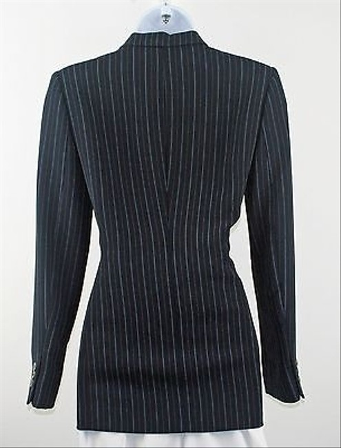 Liz Claiborne Liz Claiborne 2p Navy White Light Blue Pin Stripe Blazer